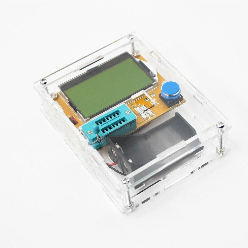 2016 Ultime LCR-T4 ESR Meter Transistor Tester Diodo Triodo Capacità di Mos Mega328 Transistor Tester + CUSTODIA (non Batteria)