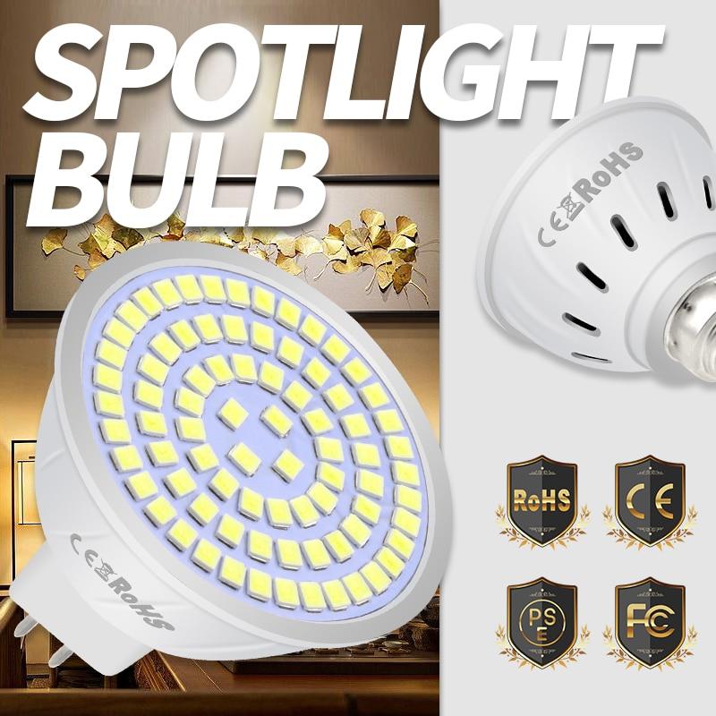 5PCS Ampoule Led GU5.3 Led Spotlight Bulb 220V MR16 Spot Light 240V GU10 Led Lamp E27 Light E14 Led 5W 7W 9W B22 Ceiling Bulb mr16 led didoe lamps 5w 7w 9w gu10 led spotlight bulb 110v 220v 60 70 80 leds smd 2835 smart ic ampoule led dimmable bombillas