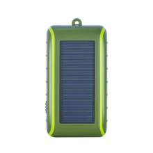 Hand Crank Solar Charger universal 5400mah solar powerbank  new arrival product with solar panel and light Free shipping