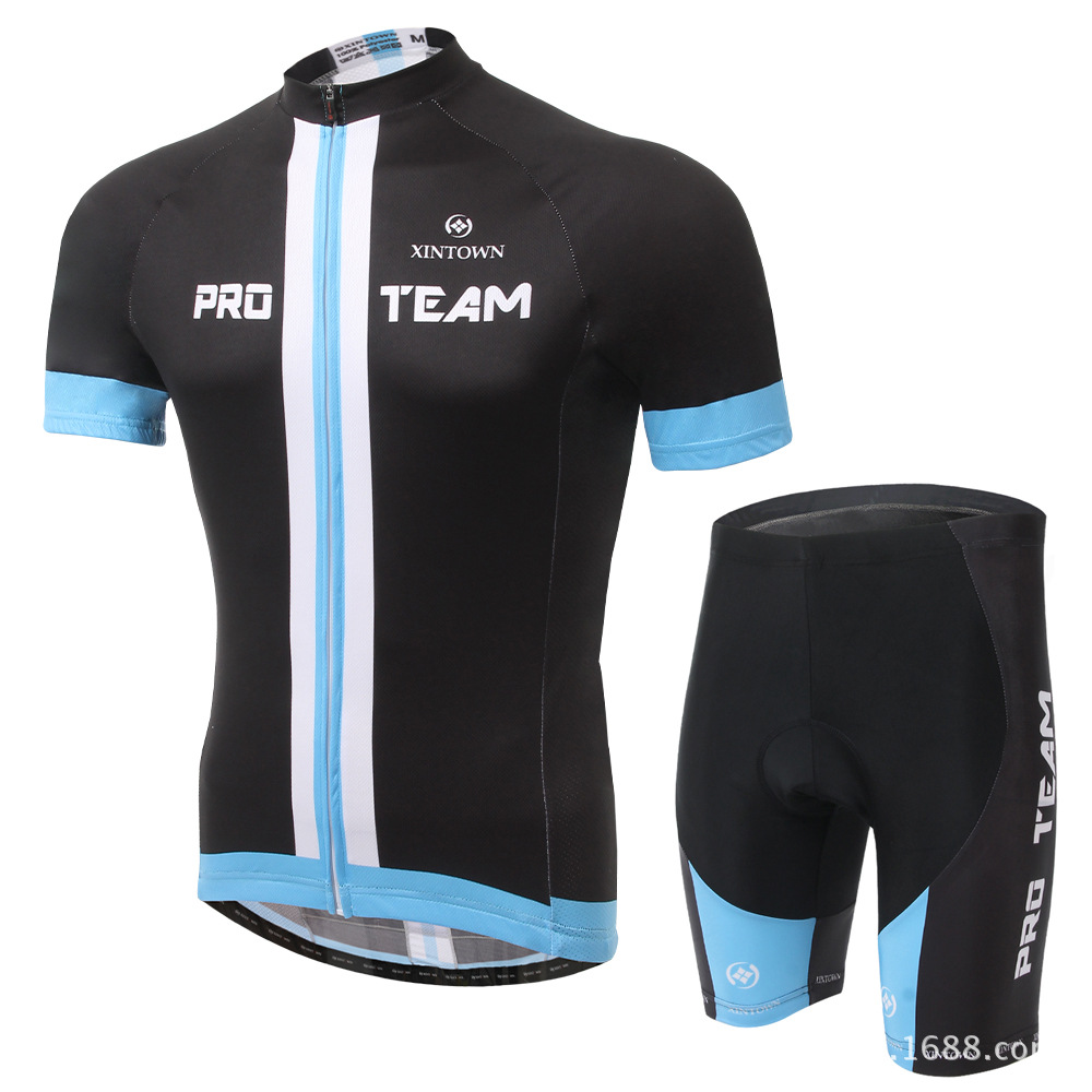 XINTOWN Men 2017 Pro Team Cycling Jersey Suit Short Sleeve Summer Breathable Bike Clothes Skinny Shorts Discount Sportswear nuckily ma008 mb008 men short sleeve bicycle cycling suit
