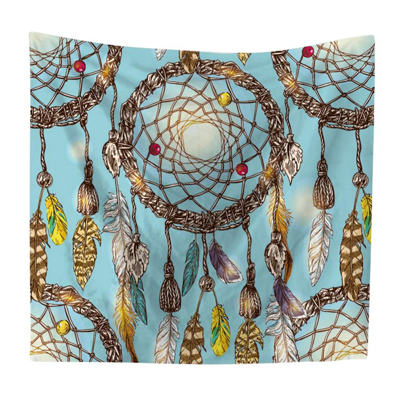 bd2ad602ffef US $7.16 14% OFF|Wall Hanging Colorful Dream Catcher Tapestry Light weight  Polyester Fabric Bohemian Feather Printed Hippie Beach Tapestrys TQ-in ...