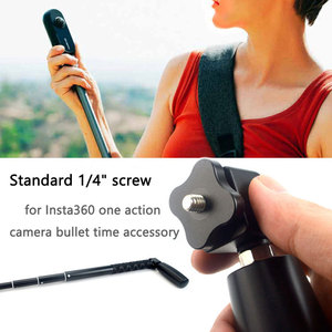 Image 2 - Bullet Time Rotation Handle Selfie Stick Bracket For Insta360 One X / Insta360 One Insta 360 VR Camera Accessories