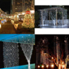 Fashion 3Mx3M 300LED Curtain LED String Lights New Year Christmas Wedding Party Decorative Lights 220V 110V