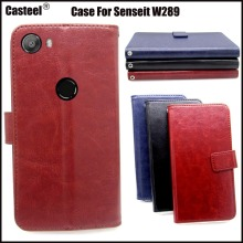 Casteel Classic Flight Series high quality PU skin leather case For Senseit W289 Case Cover Shield