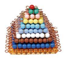 Juguete del bebé Montessori cuentas de colores de la escalera matemáticas Square 1 a 10 preescolar Early Learning Juguetes para niños Brinquedos Juguetes
