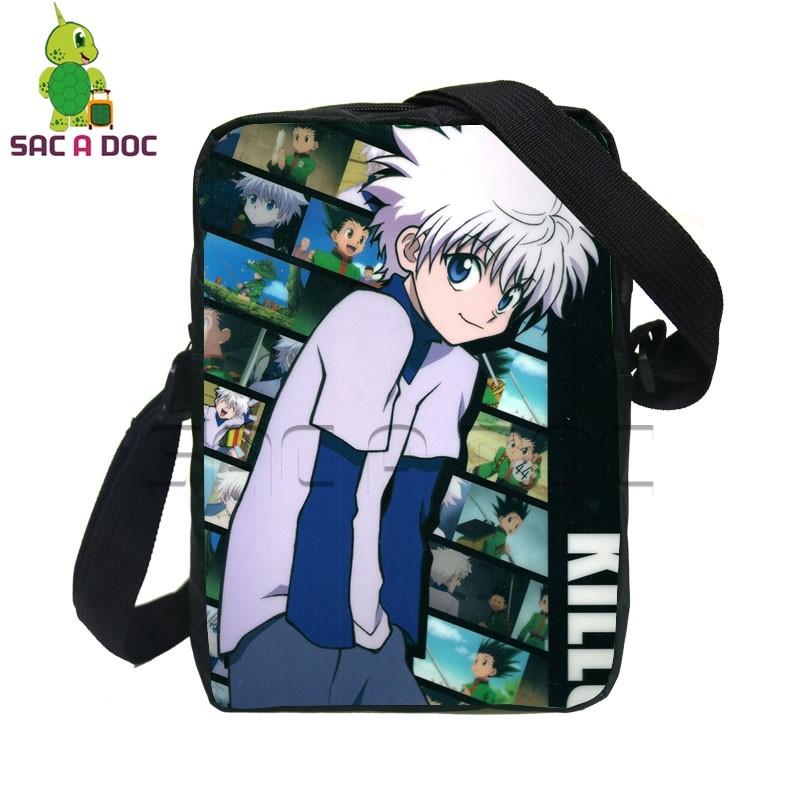 97928dda900c Anime Hunter X Hunter Gon Killua Small Crossbody Bags for Women Men ...