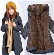 Coat 2015 Padded jacket winter new coat hooded elderly mother dress fertilizer to increase cotton 100969
