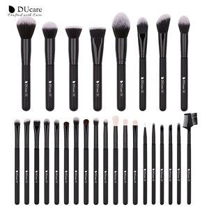 Image 1 - DUcare 27PCS Professional Makeup Brushes Set Powder Foundation Eyeshadow Make Up Brushes Soft Synthetic Hair Goat Hair Brushes