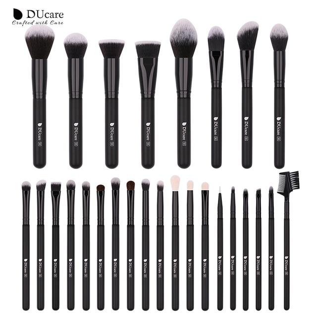 DUcare 27PCS Professional Makeup Brushes Set Powder Foundation Eyeshadow Make Up Brushes Soft Synthetic Hair Goat Hair Brushes