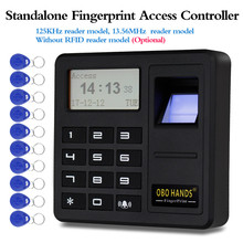 Upgrade Standalone Fingerprint Access Controller 125KHz / 13.56MHz RFID Keypad Board 500 Users Smart Card Reader Time Display