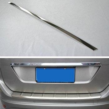 Apto Para VOLVO XC60 2009-2013 Cauda Do Carro de Aço Inoxidável Tronco Guarnição Da Porta Traseira Tampa Decoração Tampa Styling Adesivo peças externas