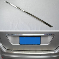 Fit For VOLVO XC60 2009 2013 Stainless Steel Car Trunk Trim Tail Rear Door Lid Decoration Cover Styling Sticker Exterior Parts
