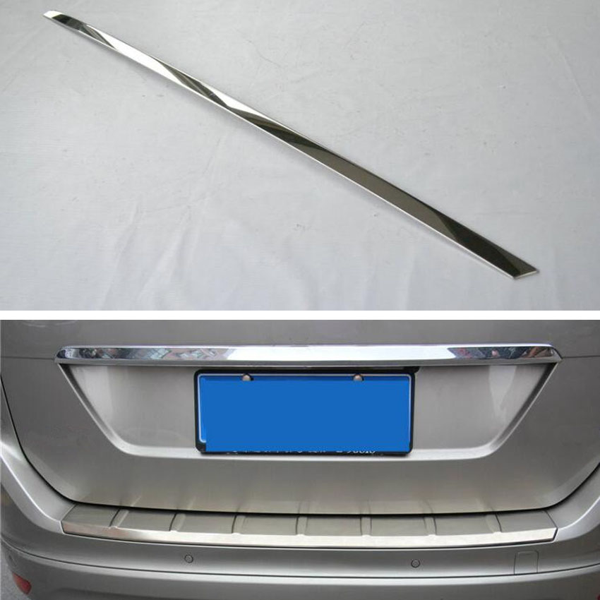 Fit For VOLVO XC60 2009 2013 Stainless Steel Car Trunk Trim Tail Rear Door Lid  Decoration Cover