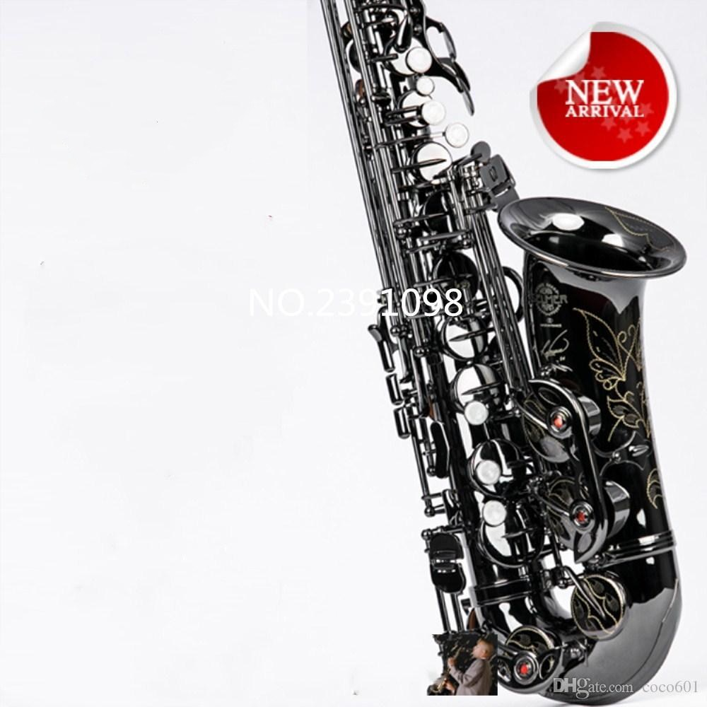 2018 New High Quality Saxophone France Selmer R54 E-flat Alto saxophone Musical Instruments Black Alto Sax & case promotion new high quality hot sale saxophone alto engraved brass selmer 802 model saxofone gold sax musical instruments professional sax