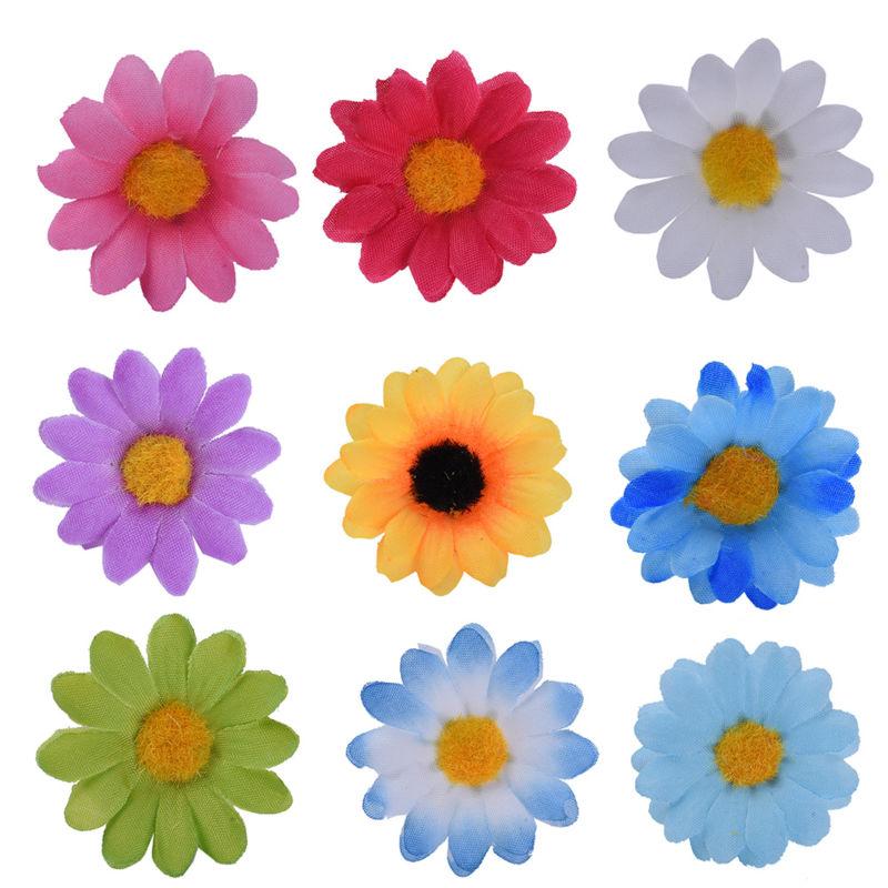 100 Unids / lote Seda Crisantemo Handmake Cabeza de Flor Artificial - Para fiestas y celebraciones - foto 1