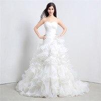 Luxurious Mermaid Wedding Dress Ruffles Organza Beadings Vestido De Casamento Bridal Gowns Robe De Mariee Wedding Dresses