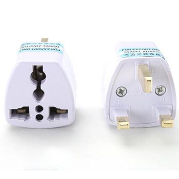 Malloom 2017 Universal US EU AU Converter to UK HK AC Travel Power Plug Charger Adapter Connector UK plug White International Plug Adaptor