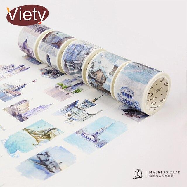 4 cm * 7 m Voyage Autour du Monde ruban adhésif washi bricolage décoratif autocollant pour scrapbooking planificateur adhésif ruban adhésif de masquage étiquette adhésive