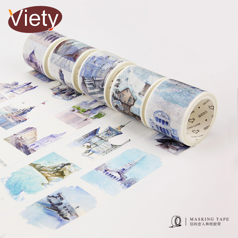 4cm*7m Travel Around the World washi tape DIY decorative scrapbooking sticker planner adhesive masking tape label sticker 3 5 4cm 5m beautiful fairy tale horse washi tape diy decoration scrapbooking planner masking tape adhesive tape label sticker
