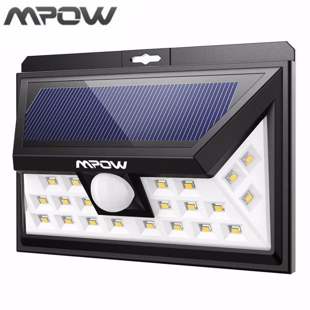 Mpow 24 LED Solar Verlichting PIR Bewegingssensor Outdoor Lamp ...