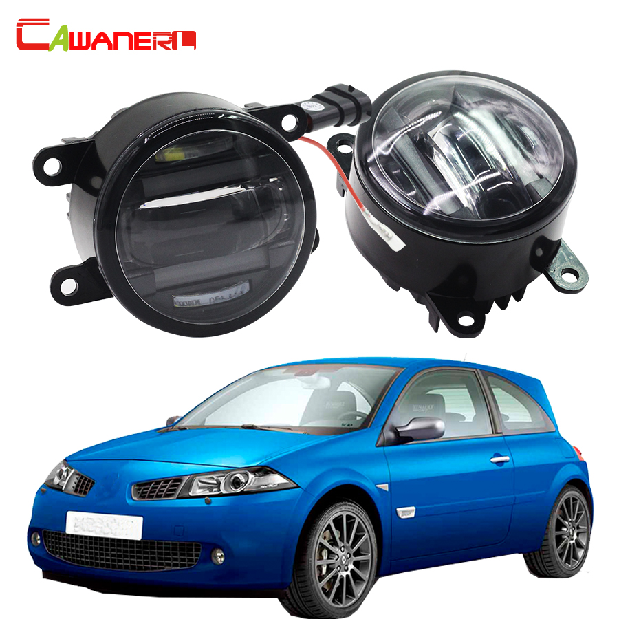 Cawanerl 2 X Car Front Fog Light LED DRL Daytime Running Lamp High Power For Renault Megane 2 / II Saloon LM0 LM1 2003 2015