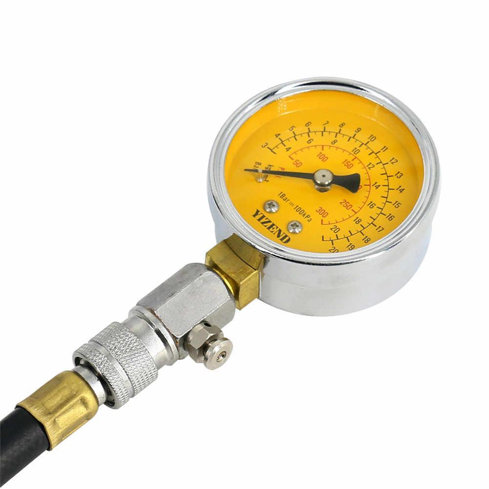 G324 bir araba silindir sıkıştırma test cihazı benzinli motor sıkıştırma test cihazı otomobil motoru basınç göstergesi uzatma çubuğu
