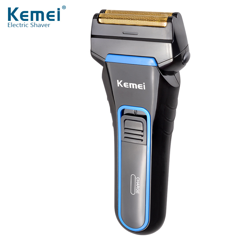 Kemei 100-240V Electric Cordless Rechargeable Reciprocating Double Blades Shaver Razor Trimmer Grommer for Men Shaving Machine