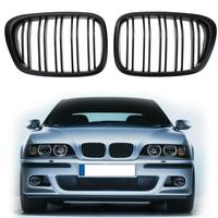 VODOOL 1 Pair Front Sport Kidney Grille Car Racing Grille Grill Black for BMW E39 5 Series 1998 2004