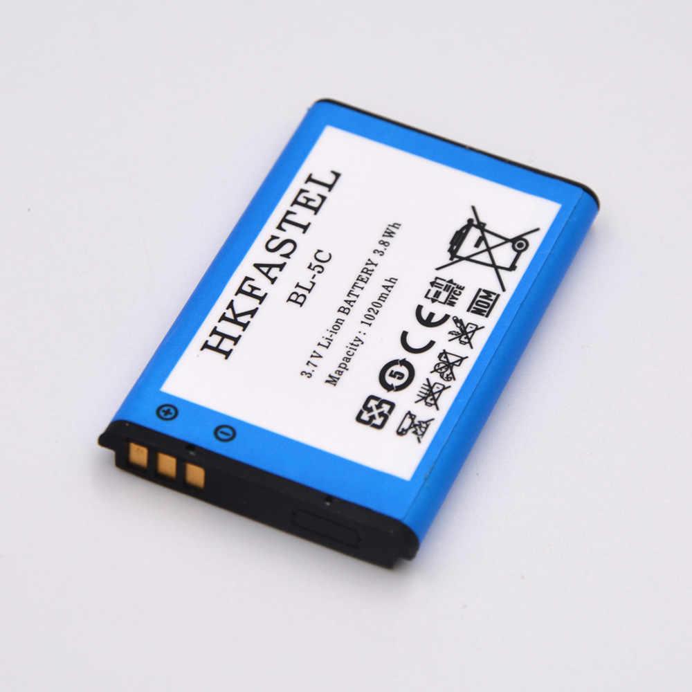 2pcs/lot BL-5C BL 5C Mobile Phone Battery For Nokia 6230 6230I 6820 6822 7600 7610 E50 E60 N-Gage N70 N71 N72 N91 N91 8GB