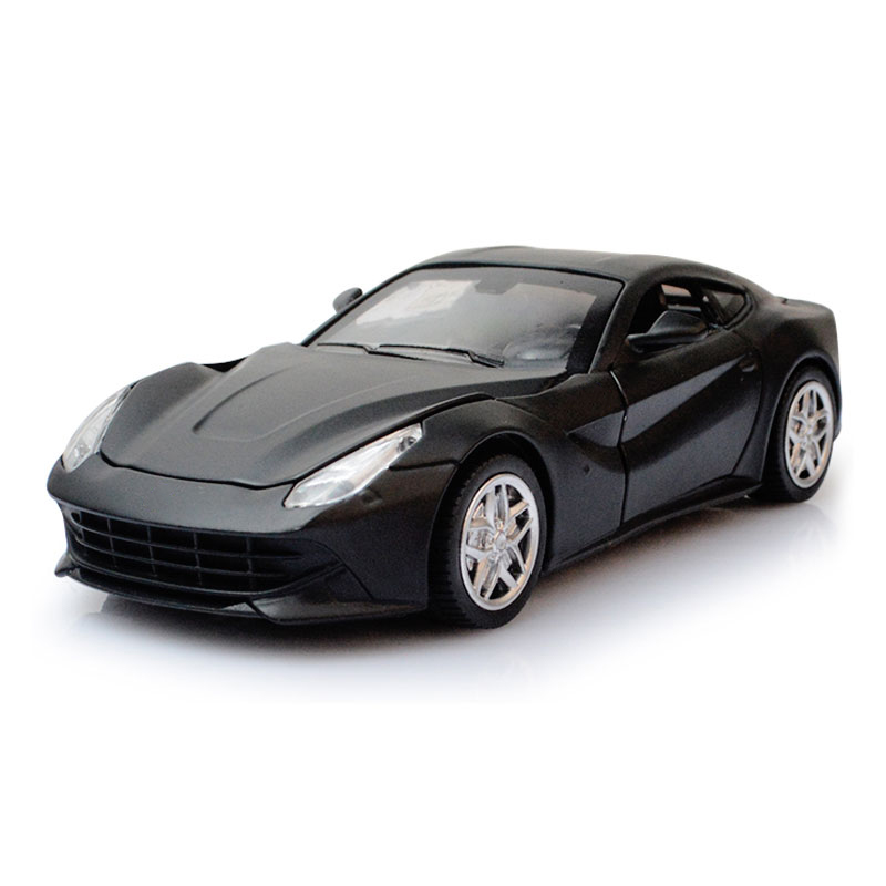 F12 Simulation Exquisite 1:32 Sport Car Model Acousto-optic Doors Openable Diecast Metal Vehicles Boys Favourite Aolly Car Toys
