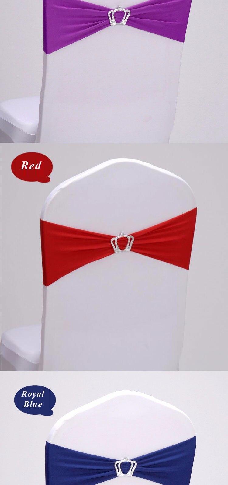 Coberta Sash Banda Coroa Nó Branco Vermelho