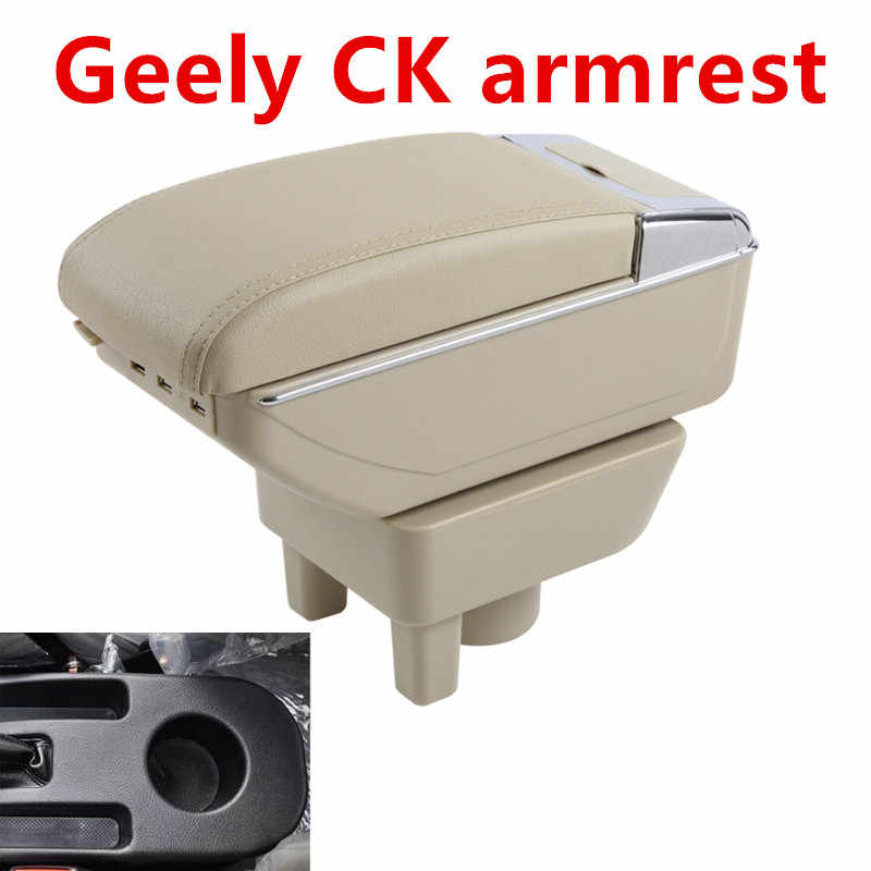 For New Geely CK armrest box central Store content Storage King kong CK2 CK3 armrest box with USB interface cup holder ashtray