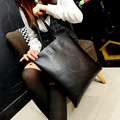 2016 new black red women's bags famous brand handbag leather lady shoulder bags clutches diagonal mochila messenger Casual tote