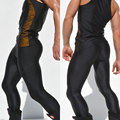 Brand  Men's Sport Long Sexy Tight Pants Gym Ankle Length Pant Skinny Pants Male Athletic Trousers Casual Elastic Sweatpants