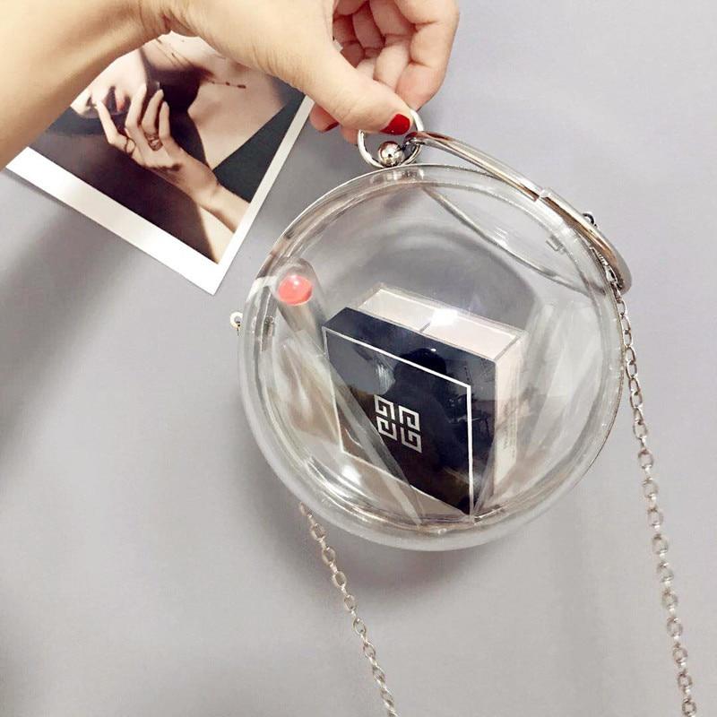 Perla Da Borsa Frizione Di Beige Tellurion Donne Rilievo Diamante Polso radura Della In Sacchetto Modo Sera Sfera Rotonda Nuziale wtBxS