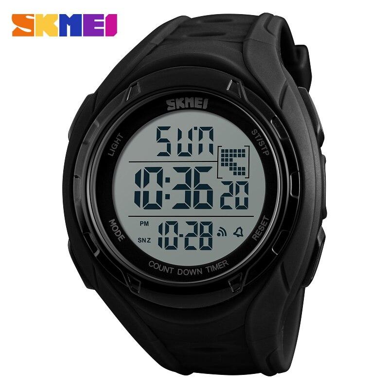 Marca de Luxo Relojes Skmei Moda Casual Masculino Esportes Relógios Digital Led Militar Relógio Mergulho 50m Eletrônica Pulso