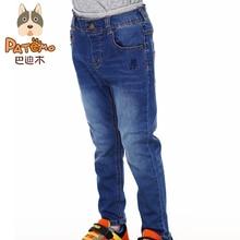 PATEMO Brand Kids Boys Jeans Pants 2015 Autumn Winter Elastic Waist Boys Jean Full Length High