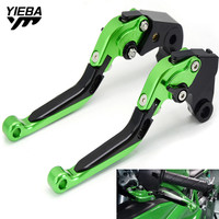With Z750 Motorcycle Brake Handle Adjustable Folding Brake Clutch Levers For KAWASAKI Z750 Z 750 2007 2012 2011 2010 2009