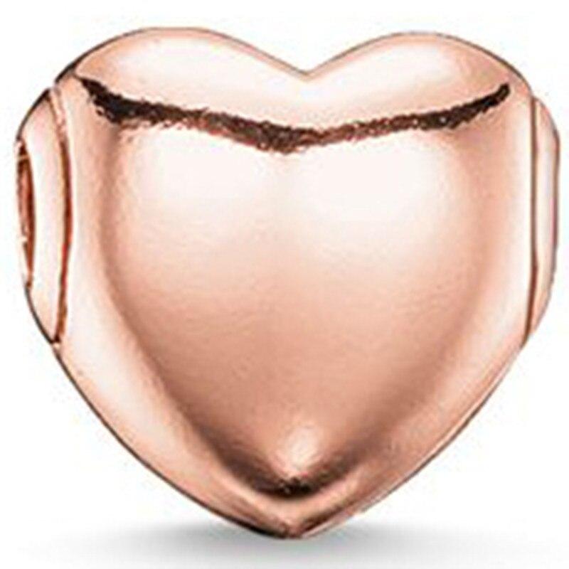 ᗔVenta caliente de oro de color rosa del corazón, más de moda ...