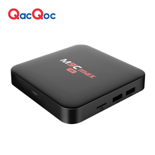 QacQoc M9C max Android 6.0 TV Box Amlogic S905X/Quad-core 64 bits/2G/16G eMMC/4k H.265 HDMI 2.0 VP9 HDR Video Decoder