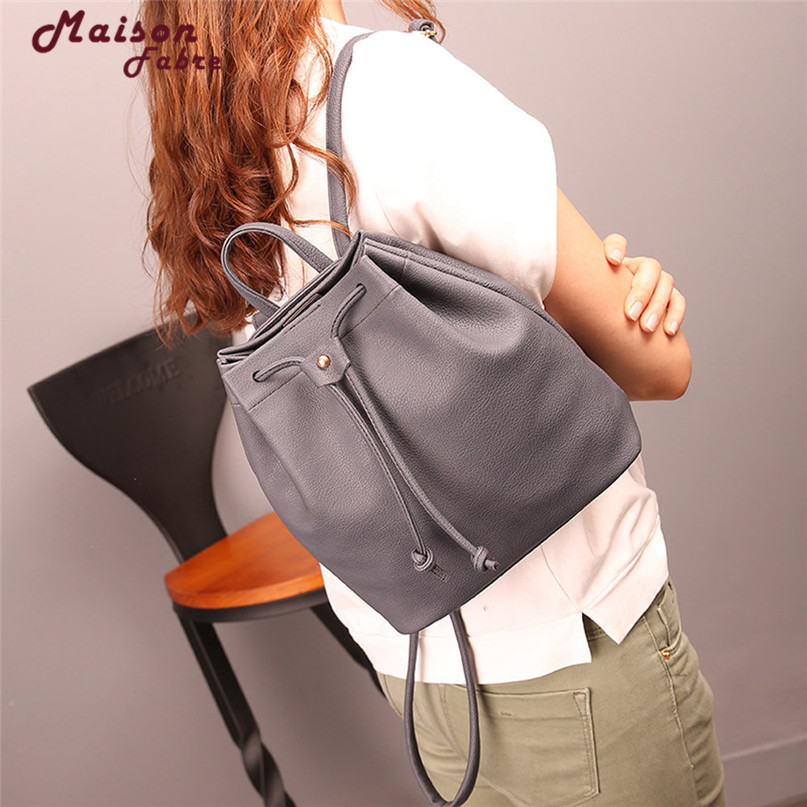 New Mafa Women Fashion Drawstringtravel Satchel School Bag Backpack Bucket Bag Csv Drop F23