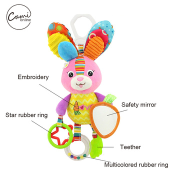 Cartoon Bird Baby Bed Stroller Hanging Rattles 1