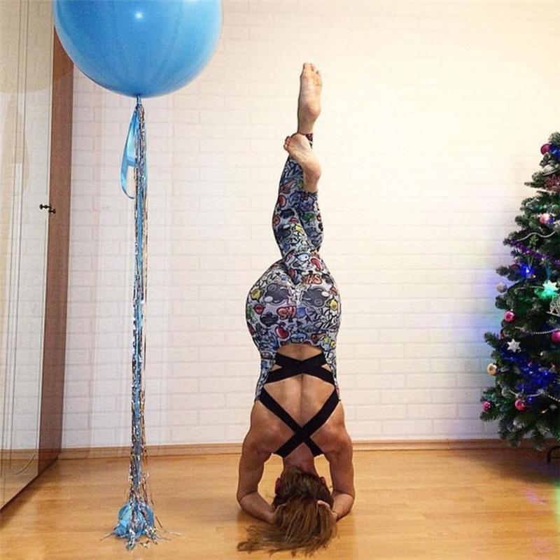 a3d538a9d7b 2019 Yoga Sport Suit Jumpsuit Women Fitness Romper Sexy Backless ...