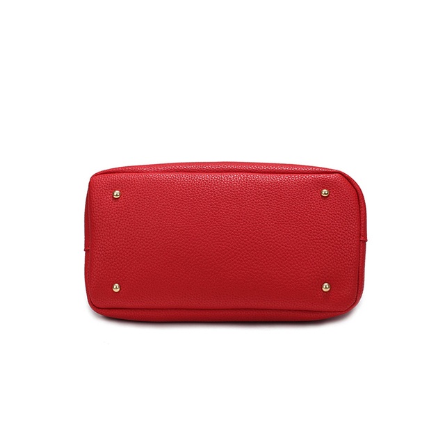 Women Bag Handbag Tote Over Shoulder Crossbody Messenger Leather Female Red Bucket Lock Big Casual Ladies Luxury Designer Bags