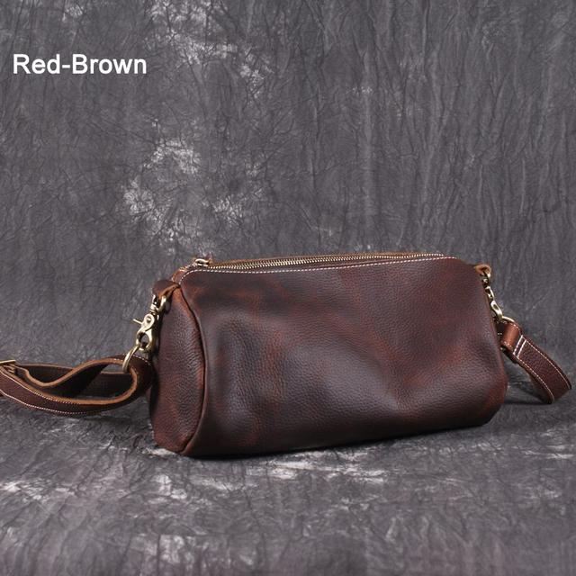 Cowboy style Vintage Genuine Leather messenger bag Men shoulder bag Leather Crossbody bag men Leisure Bag Casual Brown Cowhide