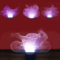 3D Xe Máy Shape Đèn Ngủ Đầy Màu Sắc Bàn Tầm Nhìn Nghệ Thuật Trang Trí Món Quà Ánh Sáng Night Lights Màu Có Thể Thay Đổi Bảng Đèn Đối Với trai Kids