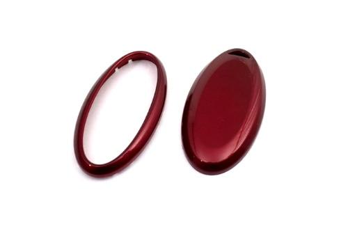 Glanz Metallic Rot Fernschlüsselabdeckung Fall Für Nissan Sentra Versa Cube Frontier Juke März Maxima Hinweis Quest Rogue X-trail Xterra