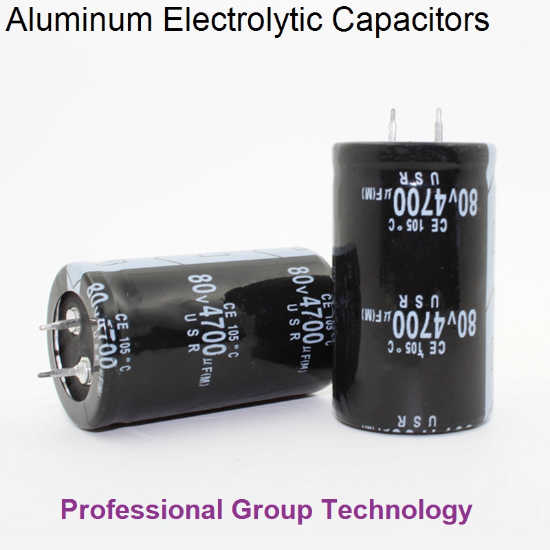 9pcs RM1 Good quality 80v4700uf Radial DIP Aluminum Electrolytic Capacitors 80v 4700uf Tolerance 20% size 30x50MM