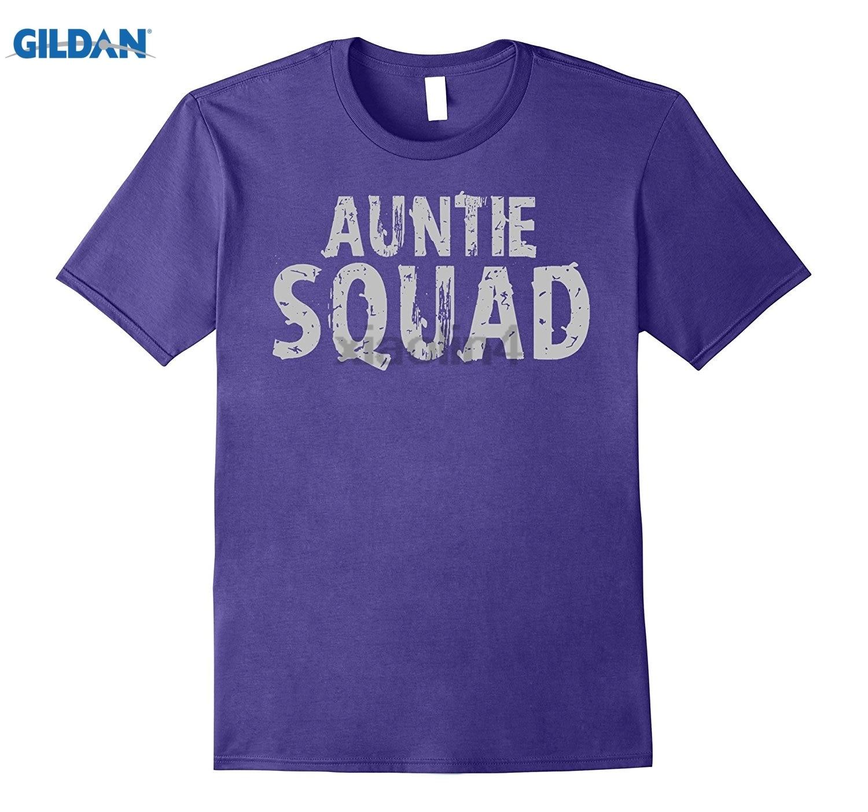 GILDAN Auntie Squad T-shirt Aunt Auntie Team Shirt Mens new cool 2018 latest fashion Gildan Dress female T-shirt