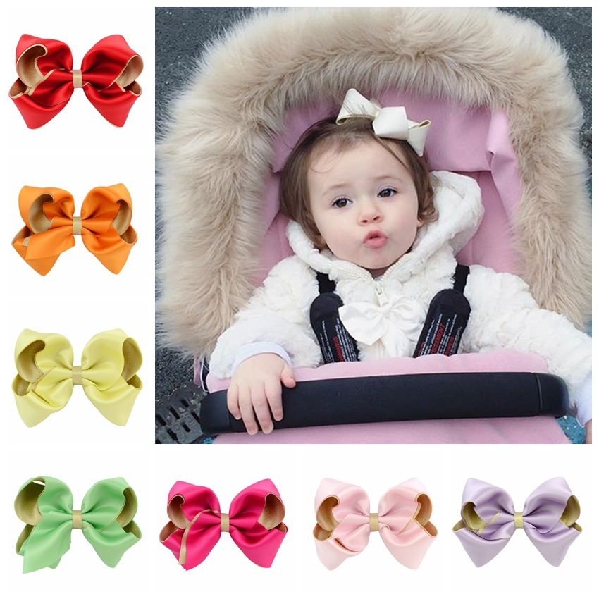 10 colors Polyester DIY Hair Accessories Girls Hairbows Boutique Hair Bow Grosgrain Ribbon Handmade HairBow with Clips best gift 2542 3 5 inch grosgrain ribbon hair bow diy children hair accessories baby hairbow girl hair bows without clip 16pcs lot